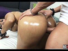 Latina, Oil, Ass, Indian girl talking dirty while fucking, Nuvid.com