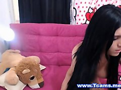 Latina, Shemale, Latina office squirt webcam, Nuvid.com