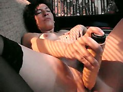 Dildo, Son fucking mother and cums in cunt, Mylust.com