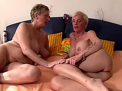 Granny, Foursome, German, British milf gets fucked in a foursome, Gotporn.com