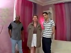 Chubby, French, French interracial gangbang part 6, Txxx.com