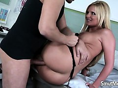 Blonde, Milf, German blonde milf fucking by black cock, Nuvid.com