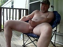 Masturbation, Jerking, Fat daddy jerking off to porn, Txxx.com