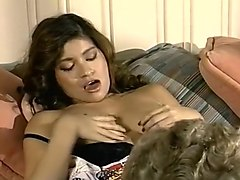 Hairy, Vintage hairy pussy blond gives handjob, Txxx.com
