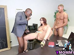Black, Milf, Threesome, Retro mom with huge tits, Gotporn.com
