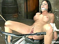 Machine, Tied, Bondage tied to bed spread eagle and fucked, Txxx.com