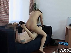 Teen, Secretary bends over for the boss, Nuvid.com