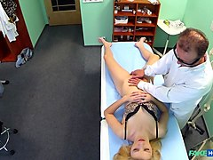 Blonde, Doctor, Massage, Lesbian cunnilingus orgasm massage, Txxx.com