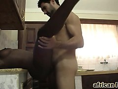 African, Kitchen, Interracial, Ass to mouth dirty, Nuvid.com