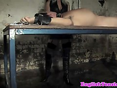 Smoking, Slave, Whipped male slave, Nuvid.com